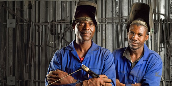 Zimnat Welders in Worksuits