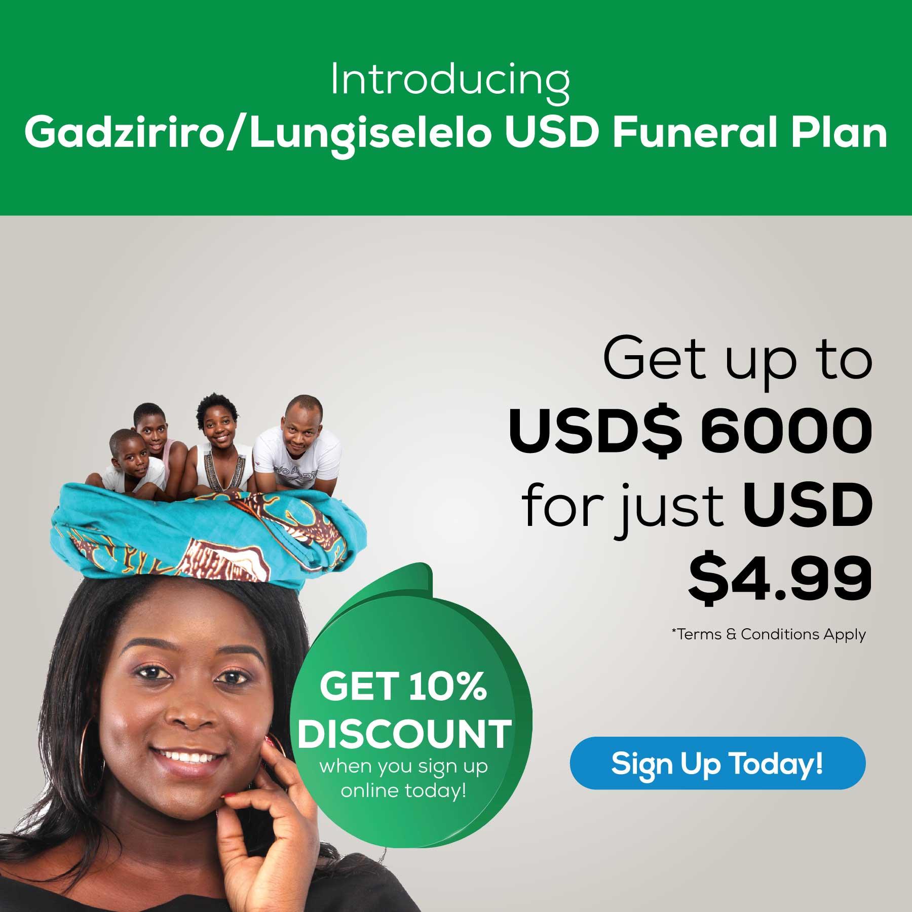 Gadziriro USD Funeral Plan